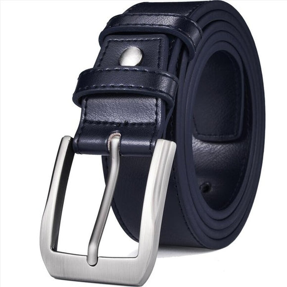 Men's Genuine Leather Dress Belt Classic Stitched Design 38mm 'ALL LEATHER' Regular Big and Tall Sizes