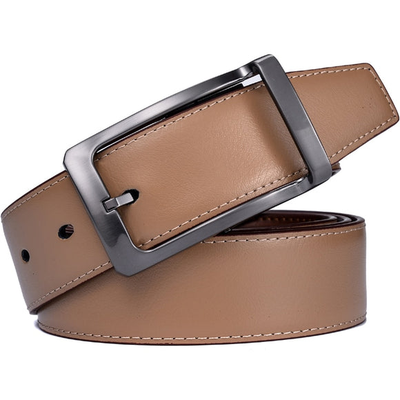 Men's Reversible Classic Dress Belt Leather 85cm to 160cm  Rotating Buckle Two in one by Beltox fine