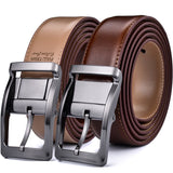 Men's Reversible Classic Dress Belt Leather 85cm to 160cm  Rotating Buckle Two in one by Beltox fine  MartLion