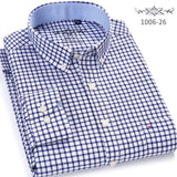 Men's Shirt Full Sleeve Regular Fit white shirt men's Striped & Plaid Shirts Oxford Mens Dress Shirts 5XL 6XL - Mart Lion  Best shopping website