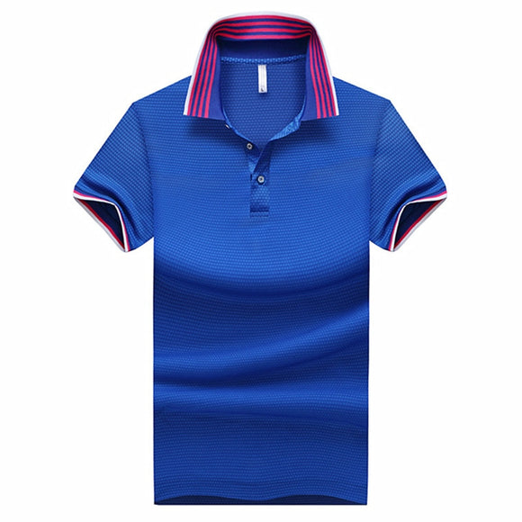 Men's Summer Short Sleeve Polo Shirt 2019 Fashion Urban Simple Cotton Breathable Stripe Splicing High Quality Tops  MartLion.com