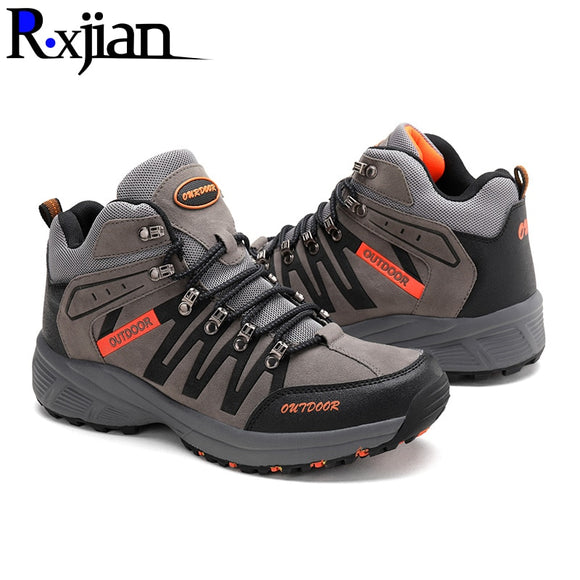 Men's and women's high-top hiking shoes 2020 non-slip wear-resistant outdoor travel rock climbing hiking shoes