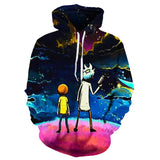Men's rick and morty 3D printed hooded pullover street Harajuku hooded cartoon hoodies and sweatshirts Asian size S-6XL  MartLion