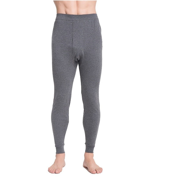 Mens  long johns  men  thermal underwear loose thin underpants legging gray and deep gray size L to 5XL
