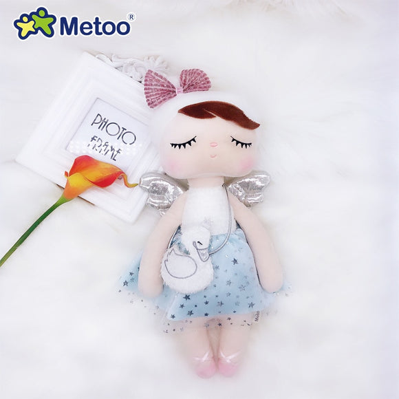 Metoo Curly Angel Plush Stuffed swan crown Cute Animals For Kids Toys Angela Doll For Girls Birthday Christmas Gift Dress  MartLion