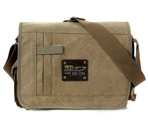 Military Messenger Bags Men's Travel Canvas Shoulder Bag Crossbody Top-handle Bags Designer Tote Handbag  MartLion.com