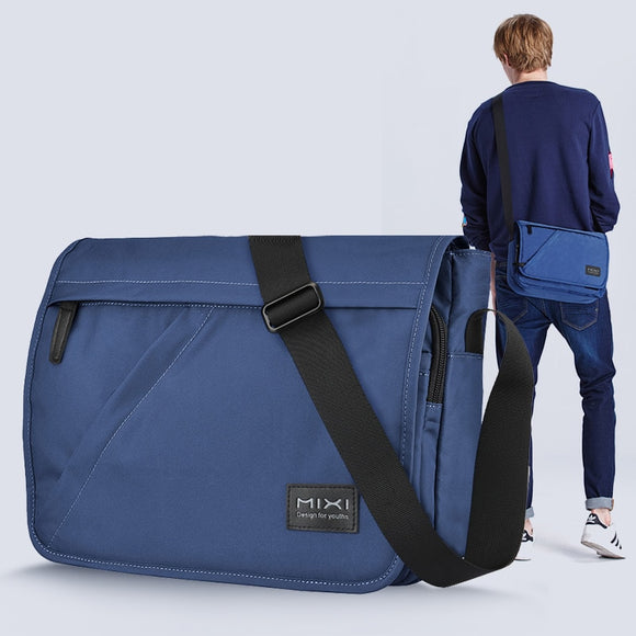 Mixi Fashion Men School Bag Boys Crossbody Satchel One Shoulder Bag Messenger Waterproof Big Capacity Designed for Youth M5177  MartLion