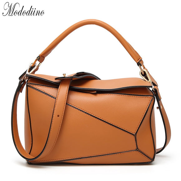Mododiino Patchwork Leather Bag Women Handbag New Elegant Shoulder Bag Female Crossbody Bag Luxury Women Bag Designer DNV1117 - Mart Lion  Best shopping website
