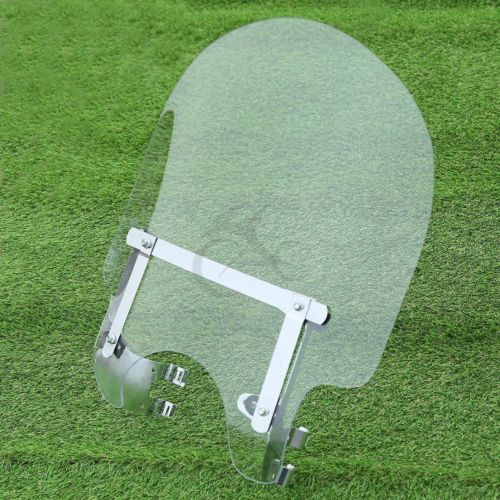 Motorcycle 39mm Clamp Windscreen Shield Fit For Harley Dyna Super Glide Sportster 883 1200 XL Custom  MartLion