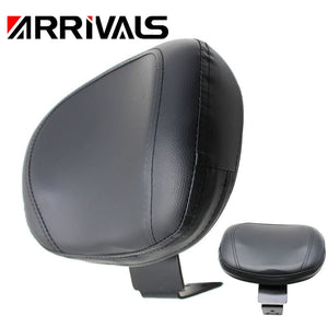 Motorcycle Black Rear Backrest Seat Sissy Leather Driver Backrest Pad For Yamaha XVS 400 650 1998-2019  MartLion.com