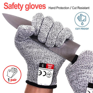 Multi Function Anti Cut Gloves Cut Proof Stab Resistant Stainless Steel Wire Metal Mesh Kitchen Butcher Cut-Resistant Gloves - Mart Lion  Best shopping website
