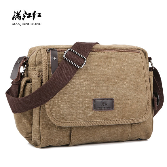 Multi-functional Casual Messenger Bags Men Canvas Leisure Men Shoulder Bags Vintage Small Crossbody Satchel Bag For Male  MartLion.com