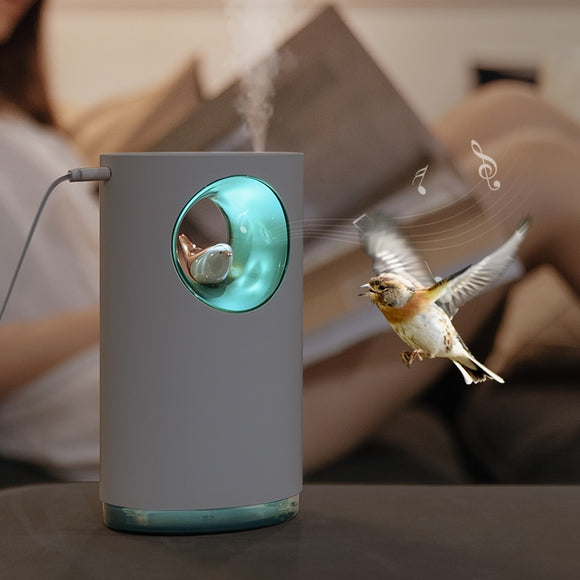 Music Air Humidifier Soothing Stress Relieve Nature Bird Song 400ML USB Aroma Essential Oil Diffuser Lamp Humidificador Atomizer  MartLion