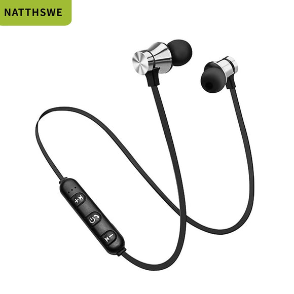 NATTHSWE Magnetic Wireless bluetooth Earphone XT11 music Sport Handsfree Wireless Earphones With Microphone For Mobile Phones  MartLion