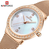 NAVIFORCE New Rose Gold Women Watch Business Quartz Watch Ladies Top Brand Luxury Female Wrist Watch Girls Clock Relogio Feminin  MartLion