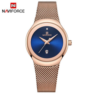 NAVIFORCE Watches Women Super Slim Sliver Mesh Stainless Steel Top Brand Luxury Casual Ladies Wrist Watch Lady Relogio Feminino  MartLion