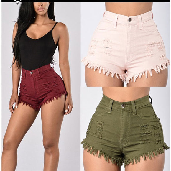 NEW 2019 summer high quality fashion casual denim shorts for women jeans high waisted tight denim shorts for women - Mart Lion  Best shopping website
