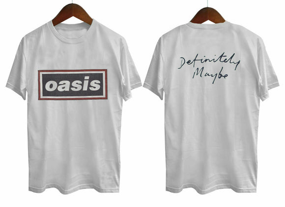 NEW Oasis Shirt Vintage T-shirt 1994 Definitely Maybe Tee 1990s Short Sleeve Hip Hop Tee T Shirt Top Tee 100% Cotton for Man  MartLion
