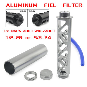 "NEW Spiral 1/2-28 5/8-24 Single Core Car Fuel Filter For NAPA 4003 WIX 24003 Fuel Trap Solvent Filters 6""  MartLion"