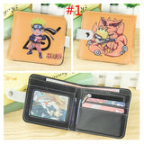 Naruto Shippuden Akatsuki Uchiha Itachi Red Cloud Mangikiu Shalingan Sorcery Short Button Wallet Folding Zipper Purse  MartLion