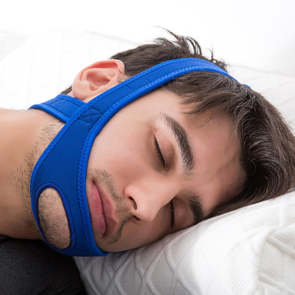 Neoprene Anti Snore Stop Snoring Chin Strap Belt Anti Apnea Jaw Solution Sleep Support Belt Sleeping Aid Tools Face Lift Tool