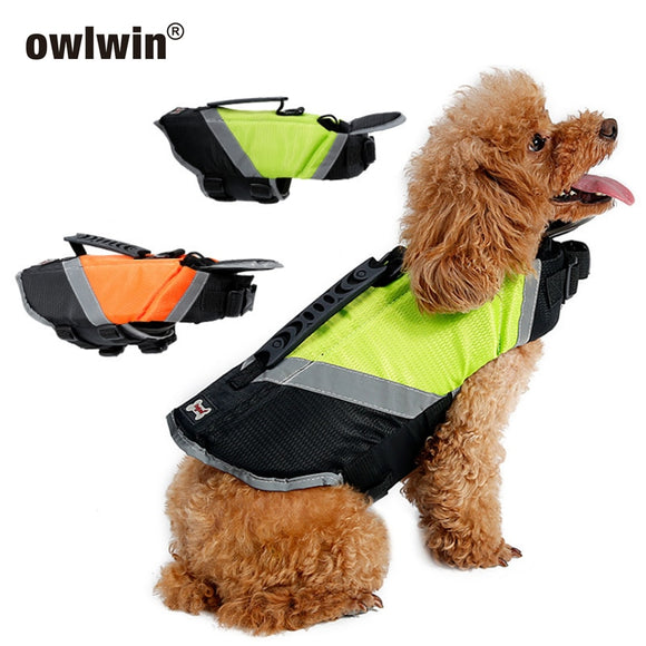 New 2019 Dog Life Jacket Preserver Dog Puppy Swimwear Surfing Swimming Vest Reflective Stripes Pet Saver Life Vest Swimming  MartLion.com