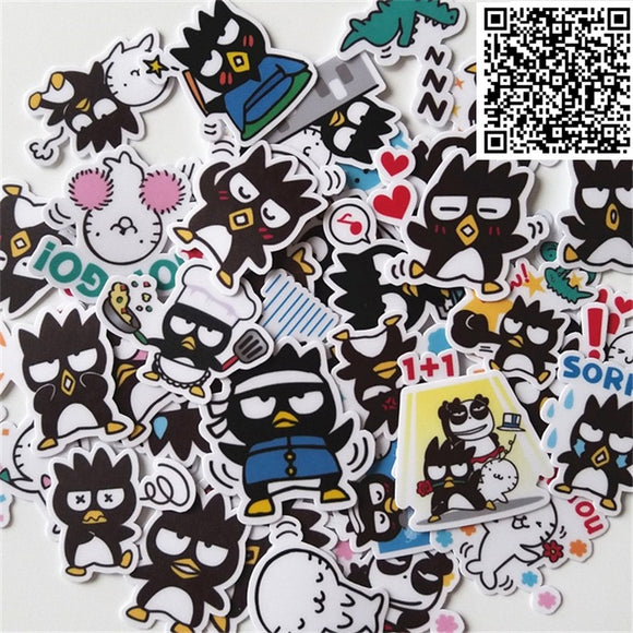 New 40 Pcs Mini black chicken Decal Mobile/PC car phone Self waterproof Scrapbooking Stickers Car Sticker Wedding Decoration  MartLion