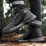 New Ankle Boots Mens Casual Shoes Non-Slip Outdoor Hiking Boots Fashion Tooling Male Comfortable Walking Shoes Winter Boots Men  MartLion