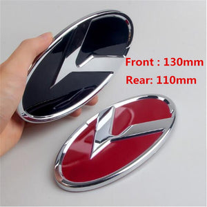 New Car Styling 130mm 110mm 3D ABS Plastic Red K5 Black Front Hood Rear Boot Steering Wheel Auto Sticker Emblem Badge  MartLion