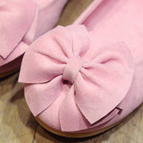 New Children Baby Girl Princess Shoes Bowknot Solid Color Anti-slip Breathable For Party Girls Shoes Dropshipping  MartLion.com