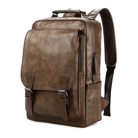 New Luxury School Backpack Waterproof Leather Backpack For Laptop Men Travel Teenage Student Backpack Bag Male Bagpack Mochila - Mart Lion  Best shopping website