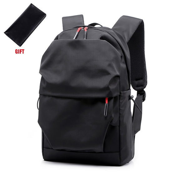 New Men Backpack for 15.0 Inches Laptop Back Pack Large Capacity Stundet Backpacks Pleated Casual Style Bag Water Repellent 2019 - Mart Lion  Best shopping website