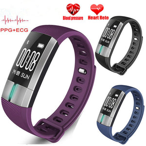 New PPG +ECG Smart Bracelet G20 Heart Rate Monitor Blood Pressure Smart Wristbands Pedometer Sleep Monitor Fitness Sports Watch  MartLion.com