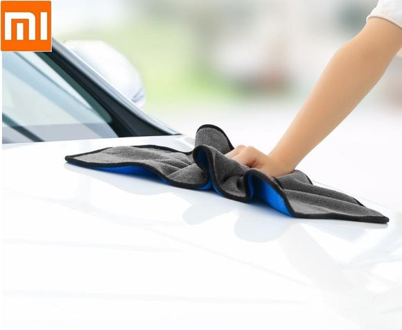New Xiaomi Youpin Nanofiber cleaning towel blue gray Two-color suede thickening no water marks no car paint no lint no fading  MartLion
