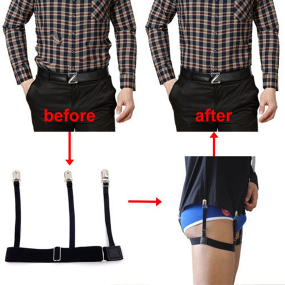 New men 2pcs/Pair S Holders Hidden Suspenders - Keeping Your Shirt Tucked In All Day nv  MartLion