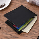 New men's wallet fashion smooth soft leather cross-section multi-function wallet tide short men's wallet quality assurance  MartLion