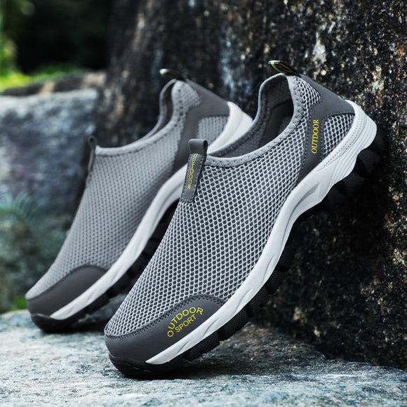 Newest Summer Men Casual Shoes Comfortable Breathable Mesh Flat Water Shose Hiking Stream Sneakers Non Slip Loafers Size 39-48