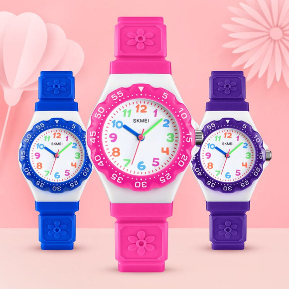 Newly Kids Children Student Sports Quartz Wrist Watch Waterproof with Adjustable Strap DOD886  MartLion