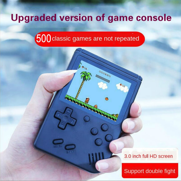 Nostalgic Retro Portable Mini Handheld Game Console 8-Bit 3.0 Inch Color LCD Pocket Video Game Player Built-in 500 game Kid Gift