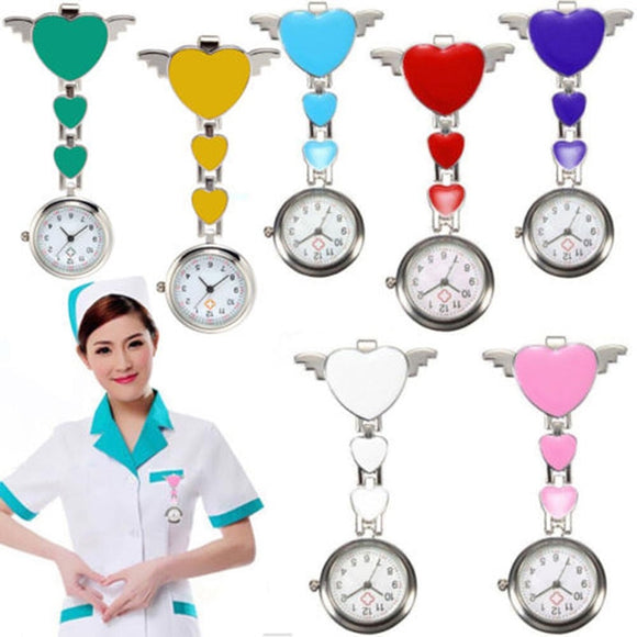 Nurse Pocket Watches Round Dial Quartz Angel Band Brooch Doctor Hanging Watches TT@88  MartLion