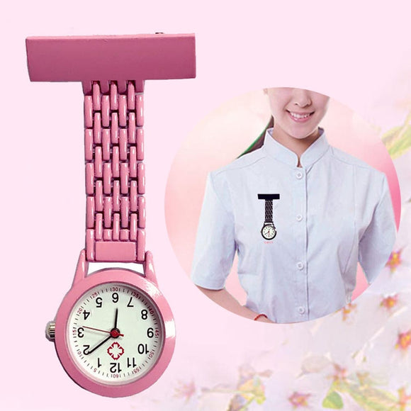 Nurse Quartz Watch Brooch Pocket Brooch Clip Medical Nurse Pocket Nursing Watch TT@88  MartLion