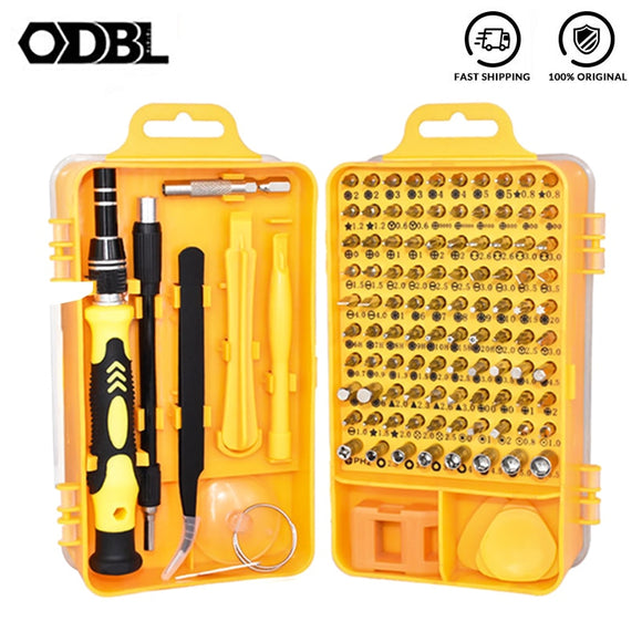 OBDL Precision Screwdriver Set 108 in 1 Multi-function Computer PC Mobile Phone Digital Electronic Device Repair Hand Home Tools  MartLion