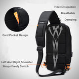 OZUKO 2019 New Multifunction Crossbody Bag for Men Anti-theft Shoulder Messenger Bags Male Waterproof Short Trip Chest Bag Pack  MartLion