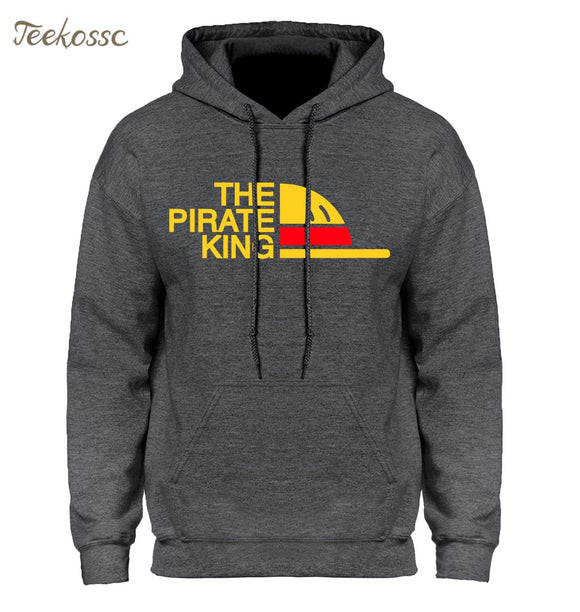 One Piece Hoodie Men Japanese Anime Hoodies Mens The Pirate King Luffy Hooded Sweatshirt Winter Autumn Fleece Pullover Youth  MartLion