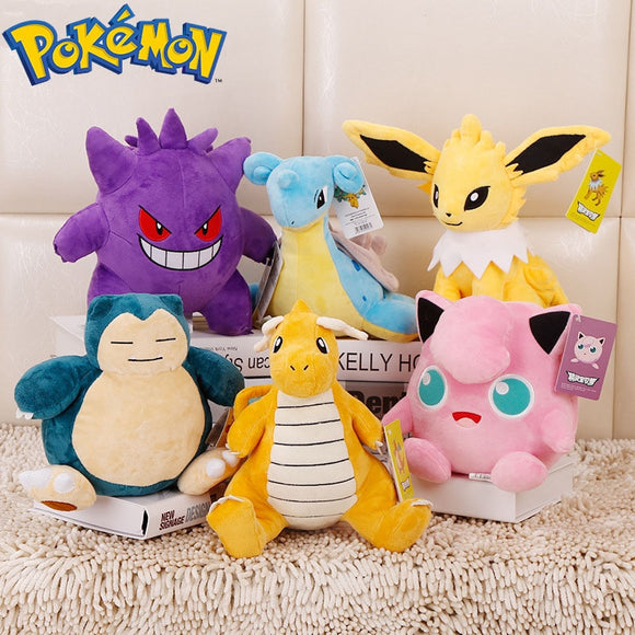 Original Takara Tomy Pokemon Plush Toys Pikachu Squirtle Stuffed Plush Doll Toys Kids Birthday Christmas Gift  MartLion