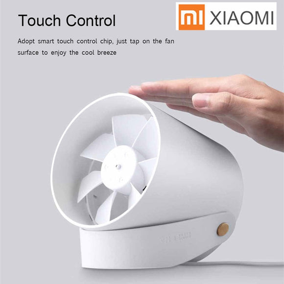 Original Xiaomi Mijia Vh Mini Fan Portable Usb Desk Fan Super Quite Touch Control Metal Frame Dual Motor Drivers Ultra Quiet