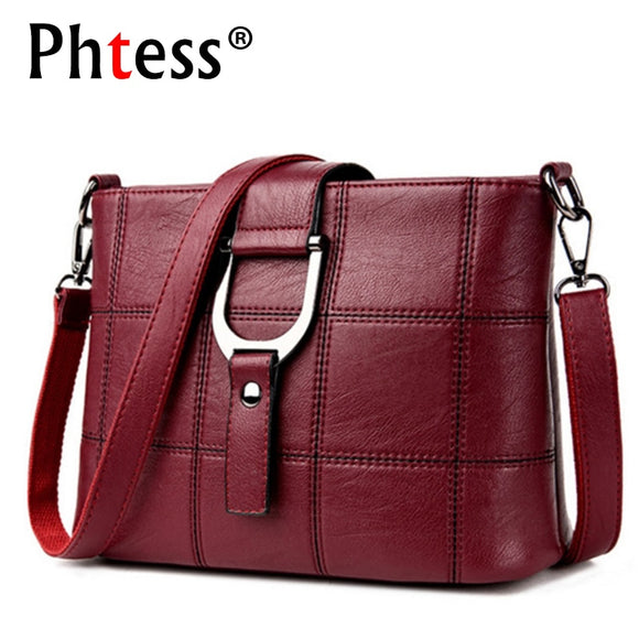 PHTESS Luxury Plaid Handbags Women Bags Designer Brand Female Crossbody Shoulder Bags For Women Leather Sac a Main Ladies Bag - Mart Lion  Best shopping website