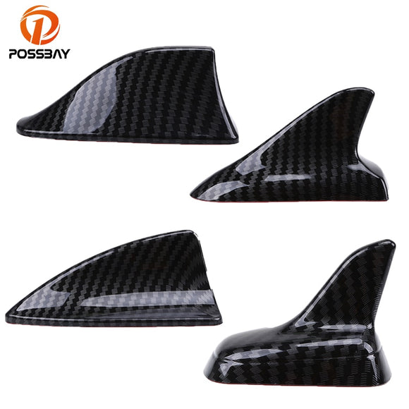 POSSBAY Auto Car Universal Shark Fin Roof Decorative Decorate Antenna Aerials Imitation Carbon Fiber Car Stickers Exterior Parts  MartLion.com