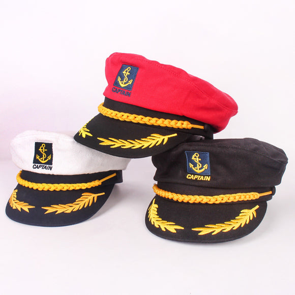 Parent-child navy hat cotton fashion military cap red black white classic captain hat men and women children sailor hat - Mart Lion  Best shopping website