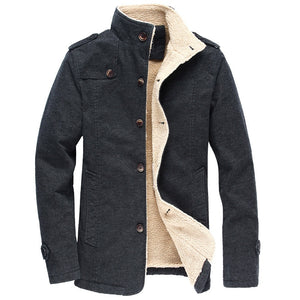 Men Winter Jackets Padded Cotton Jacket Men Thick Warm Parkas Mens Casual Outwear Coat